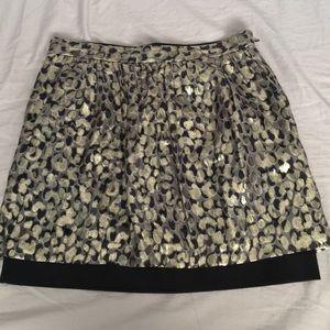 Club Monaco Metallic skirt